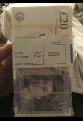 100 x 💰£20 Pounds Note Party,Realistic PROP MONEY DOUBLE SIDED ACTUAL SIZE PROP