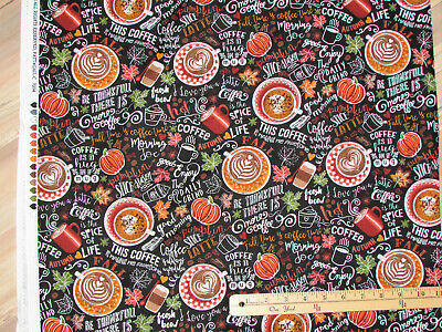 Jeepers Creepers Black Pumpkin Faces Halloween Fabric by 1//2 Yard Y1916-3
