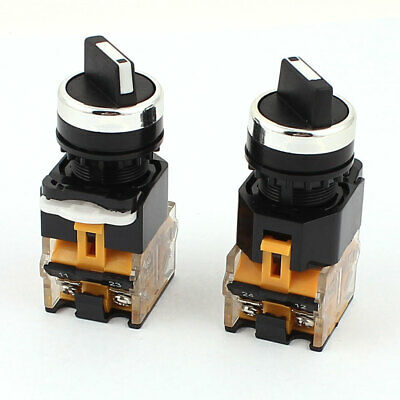Ith 10A Ui 660V 2 Position ON/OFF 4 Screw Terminal Rotary Selector Switch 2Pcs
