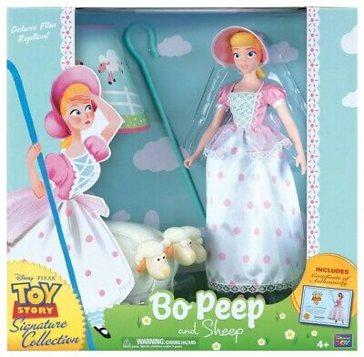 Thinkway Signature Collection Toy Story 4 Bo Peep Sheep & Movie Replica COA