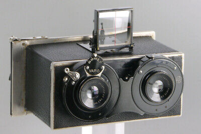 Zion Jumelle with Berthiot lenses _ stereo 6x13cm French plate camera _ Paris