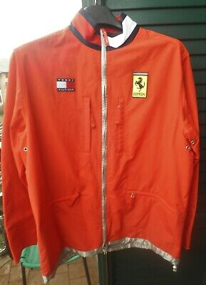 Ferrari Tommy Hilfiger Giacca A Vento L Ufficiale Genuine Team Wind Jacket F1