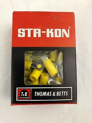 50 Sta-Kon 10RC-8 Ring Terminal Connector Insulated #6 bolt 12-10 awg T&B