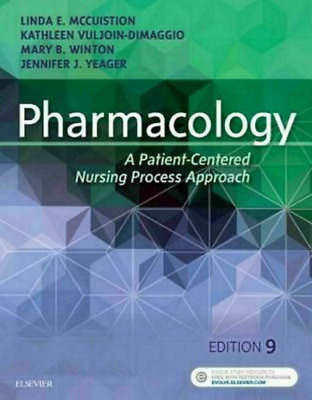 Pharmacology: A Patient-Centered Nursing Process Approach 9th Ed【P.D.F By EmaiL】