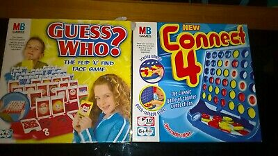 MB 2004 Guess Who? & Connect 4 set of 2 board games vintage style retro