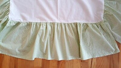 Pottery Barn Kids Crib Skirt Dust Ruffle Apple Green Check Preowned  (#8)