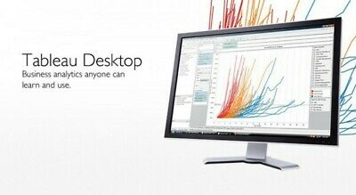 Tableau Desktop Professional 2019 & Tableau Prep 1 Year 2 PC License Region Free
