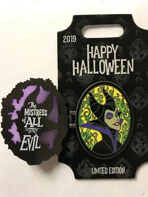 Disneyland WDW Disney Parks 2019 Happy Halloween MALEFICENT hinged LE Pin