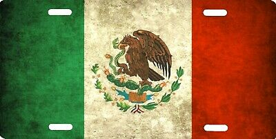 "Mexico Mexican Flag License Plate Sign 12""x6"" Metal NEW COOL"