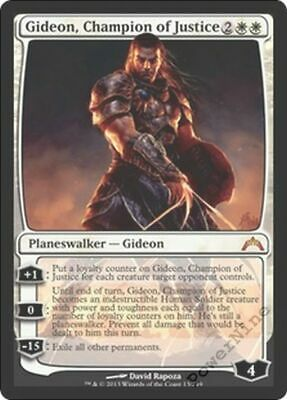 English -BFG- MTG Mag Gatecrash Near Mint Champion of Justice 1x Gideon x1