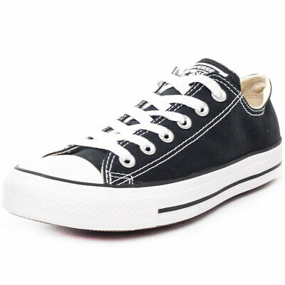 Converse Chuck Taylor All Star Ox Black White Canvas Classic Trainers