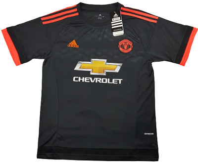 Manchester United Adidas Soccer Jersey Chevrolet Black Adult