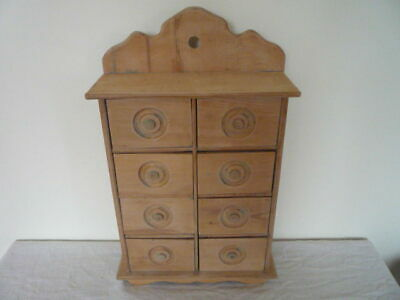 Small Table Top Antique Vintage Bank of Spice Drawers Storage Miniature