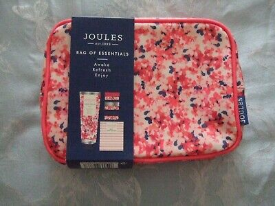 BRAND NEW JOULES Bag Of Essentials - Hand Cream/3 x Lip Balms NEW