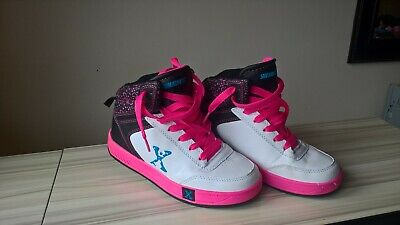 Sidewalk Sports X Heelys High Size UK 2 pink black & white USA Yth 3 Eu 34 21cm