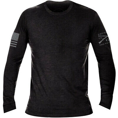 Grunt Style Basic Long Sleeve T-Shirt - Black Heather