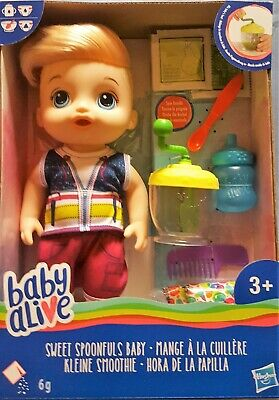 Hasbro Baby Alive: Sweet Spoonfuls Baby Doll with accessories Toys Dolls Playset