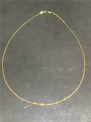 "Vintage Italy Sterling Silver Vermeil Chain Necklace - 20"" - 51 cm - 2.2 grams"