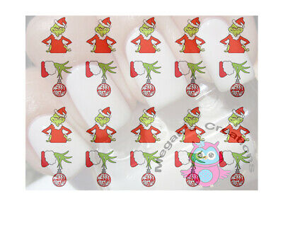 Christmas Grinch Design #8014 Nail Art Decals