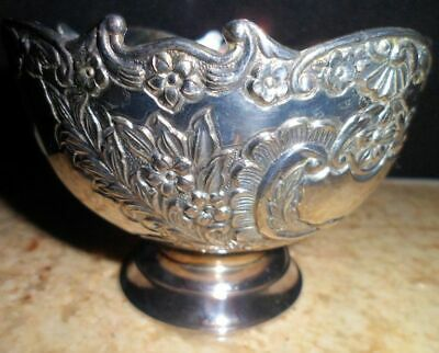 Antique Silverplate Candy Dish Footed Nut Bowl Marked Non Tarnish F B Rogers