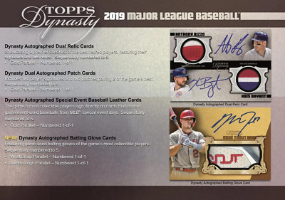 2019 Topps Dynasty Baseball Live Pick Your Player (Pyp) 1 Box Break #1