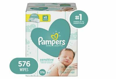 Pampers Baby Wipes, Sensitive Diaper Wipes, Hypoallergenic Unscented 576 Wipes