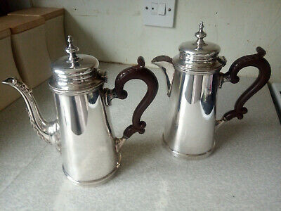 Lovely Pair Vintage Art Deco Silver Plated Coffee & Water Pot- Charles Green