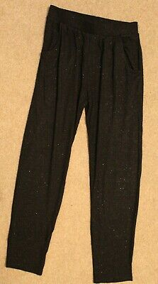 Nutmeg Black Sparkly Party Trousers With Elastic Waist Band Age 10-11