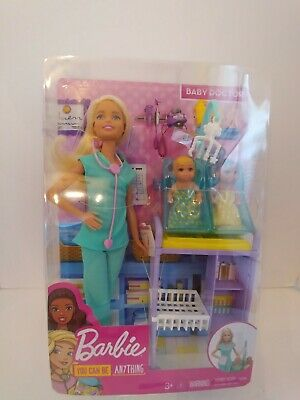 New. Barbie Baby Doctor Playset. Mattel. Think Christmas