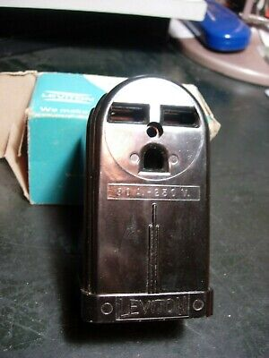 Leviton Straight 3-Wire Receptacle Outlet 30A Amp 250V - Vintage Rounded surface