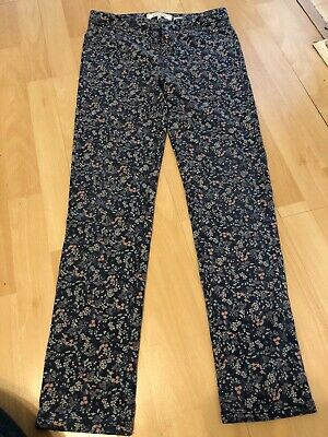 Fat Face Floral Jeans Trousers Age 12-13 Years Stretch