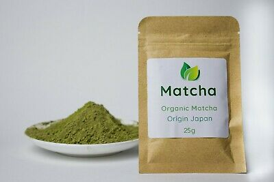 Matcha Japanese Organic Ceremonial Grade 25g, makes up to 50 serves