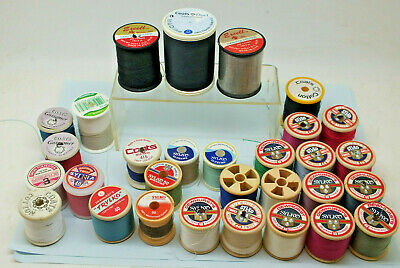 Vintage 29 Cotton Reels Bobbins Sylko Coats Excell Etc Job Lot Sewing thread