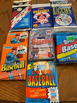 Dads old baseball cards. Unopened packs from 20 years ago. Huge Lot!
