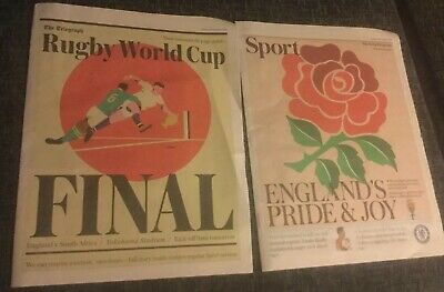 The Telegraph Newspaper Rugby World Cup Final Pullouts. England V South Africa.