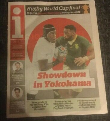 The I Newspaper. Rugby World Cup Final Preview. England V South Africa.new.