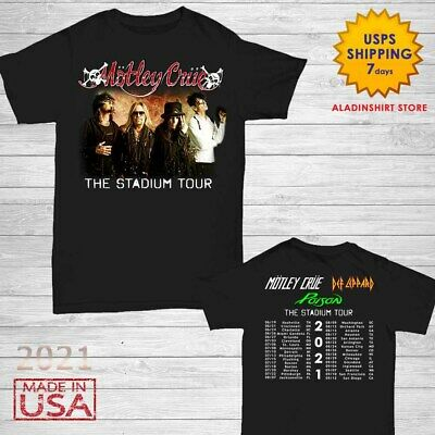 Motley Crue t Shirt The Stadium Tour Dates 2020 T-Shirt Size M-2XL Men Black