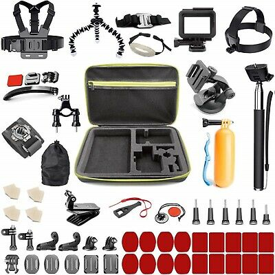 GoPro Accessories Kit Hero 7 6 5 4 Session Black Sports Camera Mount Set 65 In 1