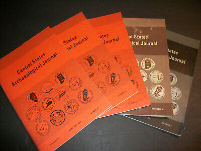 Central States Archaeological Journal  - Five Issues 1984-86