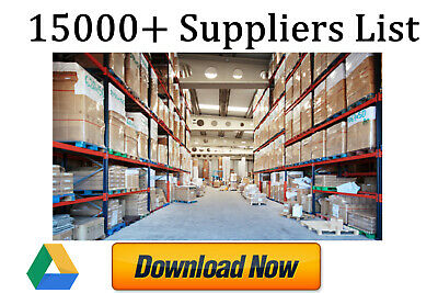 15000+ Wholesale Suppliers List -  U.k. And International Best New Fast Source