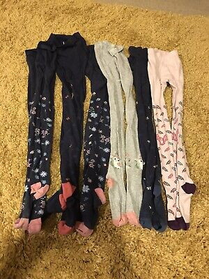 Bundle Of Girls Fat Face Tights Age 7-8 Sizes Medium & Large VGC