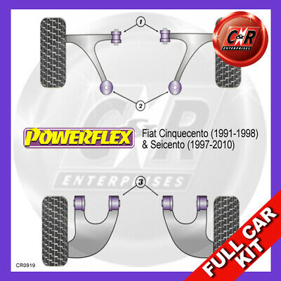 Fiat Cinquecento (1991-1998) Powerflex Komplett Bush Set