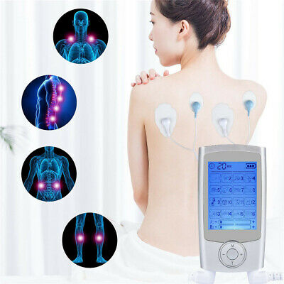 16 Therapy Modes 4 Pads Dual Channel Rechargable Pro TENS Machine EMS Massager