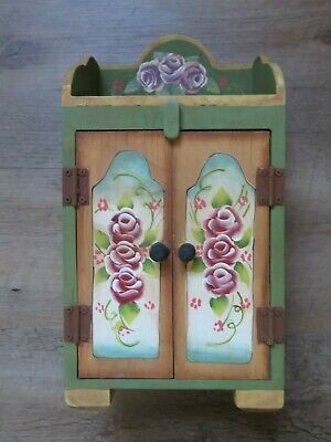 Hand Painted Small Wooden Armoire Made in the Philippines