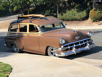 Chevrolet 1954 Woody Surf Wagon Tin Woody Bel Air 5 speed Disc brake Mustang ll