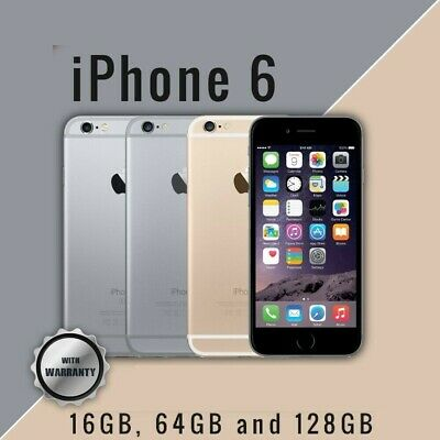 As New iPhone 6 16GB 64GB 128GB Grey Silver or Gold 100% Unlocked 4G Warranty