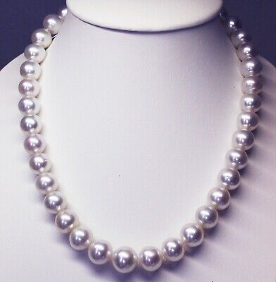 15.7mm! WHITE SOUTH SEA PEARLS 100% UNTREATED NECKLACE+18ct GOLD CLASP+APPRAISAL