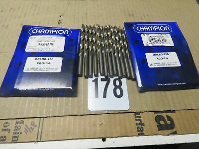 12 pieces per pack Champion Cutting Tool Heavy Duty BlackGold Jobber Drill Bits -MADE IN USA 135 Degree Split Point: XGO-1//16