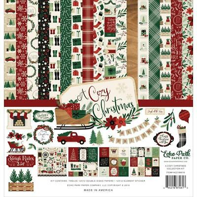 Echo Park Collection Kit - A COZY CHRISTMAS - papers & stickers