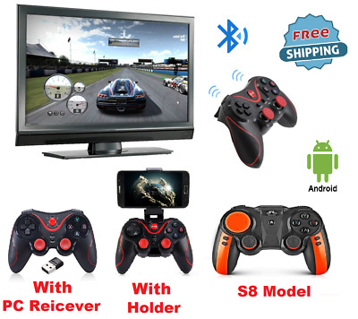 Wireless Bluetooth Gamepad Controller Joystick For Android IOS Game Pad + HOLDER